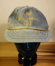 Vintage 60's 70's EAA Air Museum B-17 Denim Hat Cap Aviation Pilot Worn Faded