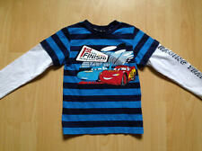 Cars Shirt Gr. 110/116 von H&M Langarmshirt blau gestreift