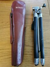 Vintage Mayfoto Camera Tripod with Original Brown Leather Case High Quality