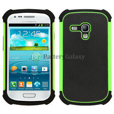 LOT Hybrid Rugged Rubber Hard Case Cover Skin for Samsung Galaxy S3 S III Mini