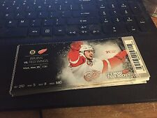 2015 DETROIT RED WINGS VS BOSTON BRUINS TICKET STUB 11/25 TOMAS TATAR