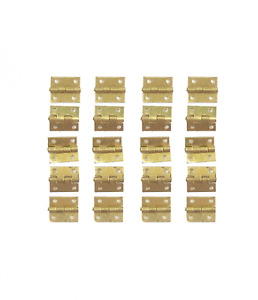 Dolls House Small Brass Butt Hinges Miniature Fixtures & Fittings DIY Accessory