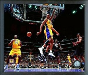 "Kobe Bryant & Shaquille O'Neal LA Lakers NBA Photo (Size: 12"" x 15"") Framed"