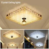 Moderne cristal LED plafonnier lampe carrée lumière lustre éclairage 12W