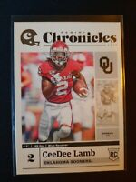 2020 CeeDee Lamb Chronicles Draft Rookie Card RC DALLAS COWBOYS