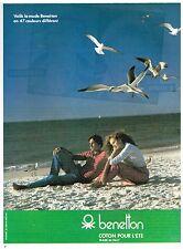 Publicité Advertising 1980 Pret à porter les vetements femme Benetton