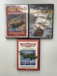 BUILD YOUR OWN WWII Tiger Tank, Lancaster Bomber, HMS Victory DVD X3