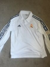 Real Madrid Jersey Zidane 2002 Centenario Champions League Sz L Long Sleeve