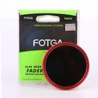 FOTGA 82mm ND Filter Slim Fader Variable Neutral Density ND2 ND8 to ND400 Red