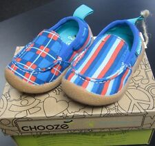 "NEW CHOOZE SHOES BOYS SCOUT SLIP ON SHOES IN ""SAIL"" COLOR SZ 7"
