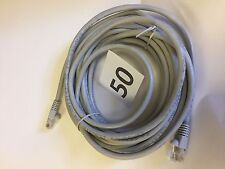 50 -25 Foot Molded BOOTED Cat5e Network Cable Ethernet GRAY Gold Plated RJ45 UTP