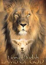 LION OF JUDAH LAMB OF GOD RELIGIOUS A3 ART PRINT POSTER YF5321