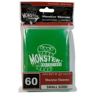 Yugioh Monster Protectors GREEN LOGO Glossy Deck Protectors/Sleeves 60ct