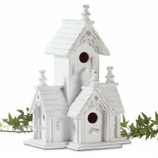 White Wood Victorian Style Bird House