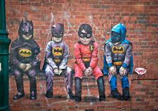 ART PAINTING BANKSY BATMAN KIDS COSTTUME GRAFFITI PRINT POSTER URBAN AUSTRALIA
