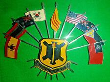 STEEL PLAQUE - Vietnam War - USAF 12th TFW - SPAIN - ANZACs - USA - THAI - 0914
