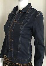 Designer: MARITHÉ + FRANÇOIS GIRBAUD Women's Dark Denim Jacket size S