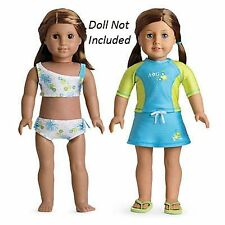 """American Girl JLY 2 IN 1 SURF SWIMSUIT for 18"""" Dolls Bikini Clothes Retired NEW"""