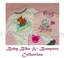 Baby Bibs & Bumpers Collection - Machine Embroidery Designs On Cd Or Usb