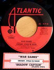 Crosby, Stills & Nash 45 War Games / Shadow Captain  w/ts