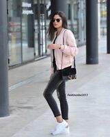 Brandy Melville Pink Cotton kasey bomber jacket NWT OS+ Gifts
