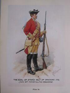 Militär Britische Armee Kavallerie Uniform Aufdruck Earl Von Treppen Regiment