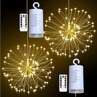 180 LED Licht Lichtervorhang Fernbedienung Weihnachtsbeleuchtung Lichterkette DE