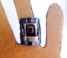 Construido tres piezas de plata esterlina y oro anillo hecho a mano