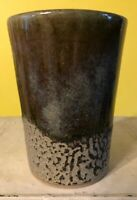Vintage Pigeon River Pottery Stoneware Drip Glaze Cup Mug Glass T. Bullen