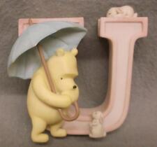 Disney Classic Winnie the Pooh Letter U Umbrella Ceramic Alphabet Stand or Hang
