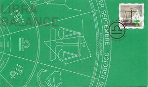 Canada SC # 2455 - Signs Of Zodiac - Libra FDC . Lowe-Martin Cachet