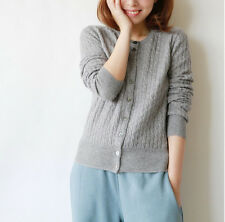 Knitted Cardigan cashmere women sweater cashmere coat  free shipping