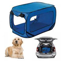 Cage de transport pliable chien  54x92x54 cm bleu accessoire animaux