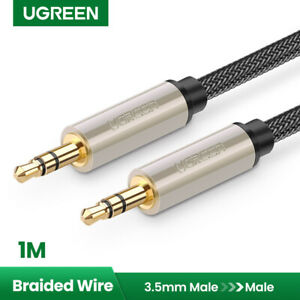 UGREEN 3FT 3.5mm Male to Male Auxiliary Aux Stereo Audio Cable Nylon Braid Gold