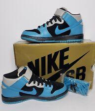 Nike SB Dunk Mid Pro Aqua Fuel Blue 314383-041 Size 6.5