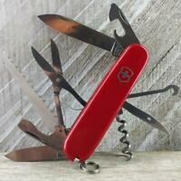 Victorinox Huntsman Red Swiss Army Knife Very Good Condition EDC Scout Camp Fish