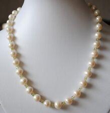 Süßwasser Perlen Kette mit facettierten Peridot Steinen