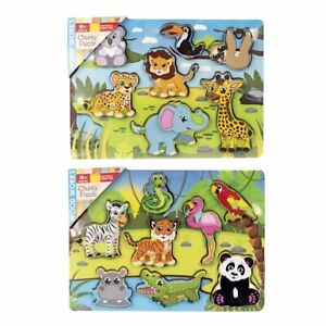 Chunky Animals Wooden Jigsaw Puzzle Kids Educational Learning Toy XMAS Gift New