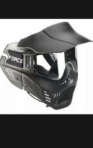 Vforce Armor Field Vision Woodsball Paintball Mask Black Clear Lens Gen 3