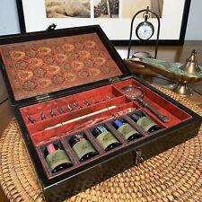Vintage Calligraphy Writing Gift Set Magnifying Glass Dip Pen Drawing Ink Kit