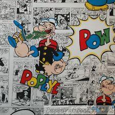 BonEful FABRIC FQ Cotton Sweat*Shirt Fleece KNIT POPEYE Character News*paper Boy