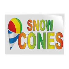 Decal Stickers Snow Cones Rainbow Food Bar Restaurant Truck Store Sign Label