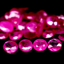4.16 Carats 35pcs 3MM Natural Reddish Pink RUBY for Jewelry Setting