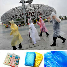 5X PONCHO Disposable Plastic Raincoat Emergency Rain Waterproof Camping