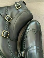 Alexander McQueen Motard Brogue Chelsea Bottes Chaussures Neuf Emballage 42.5