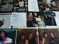 MARILLION - MAGAZINE POSTER/CUTTINGS COLLECTION (REF X13F)