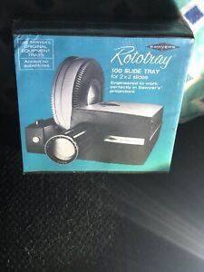 Vintage Sawyer Rototray 100 Slide Tray For 2x2 Slides Projectors New Sealed