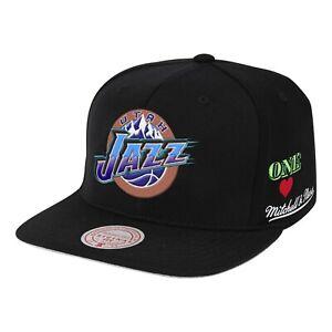 Utah Jazz Mitchell & Ness Hyper Local Snapback- Black