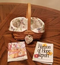 Longaberger 1999 Classic Hoh Horizon Of Hope basket combo liner Protector tie on