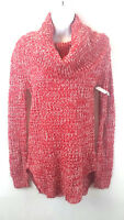 Rue 21 Women's Crochet Knit Cowl Neck Sweater Tunic Top Red Size X-Small New